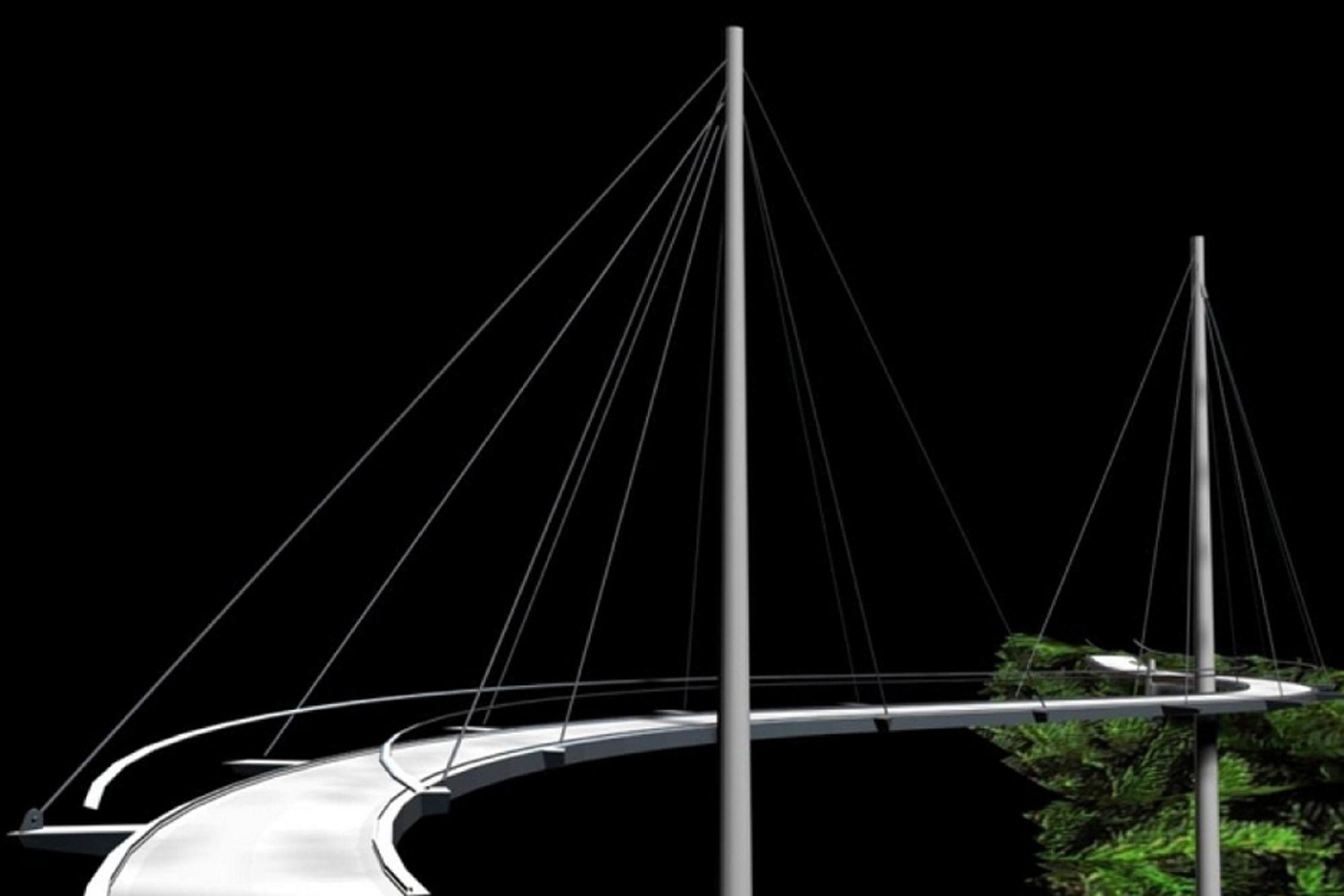 Hvis ingen klager innen 1. september, skal Skanska bygge denne skråstagbrua over Akerselva i Oslo.
