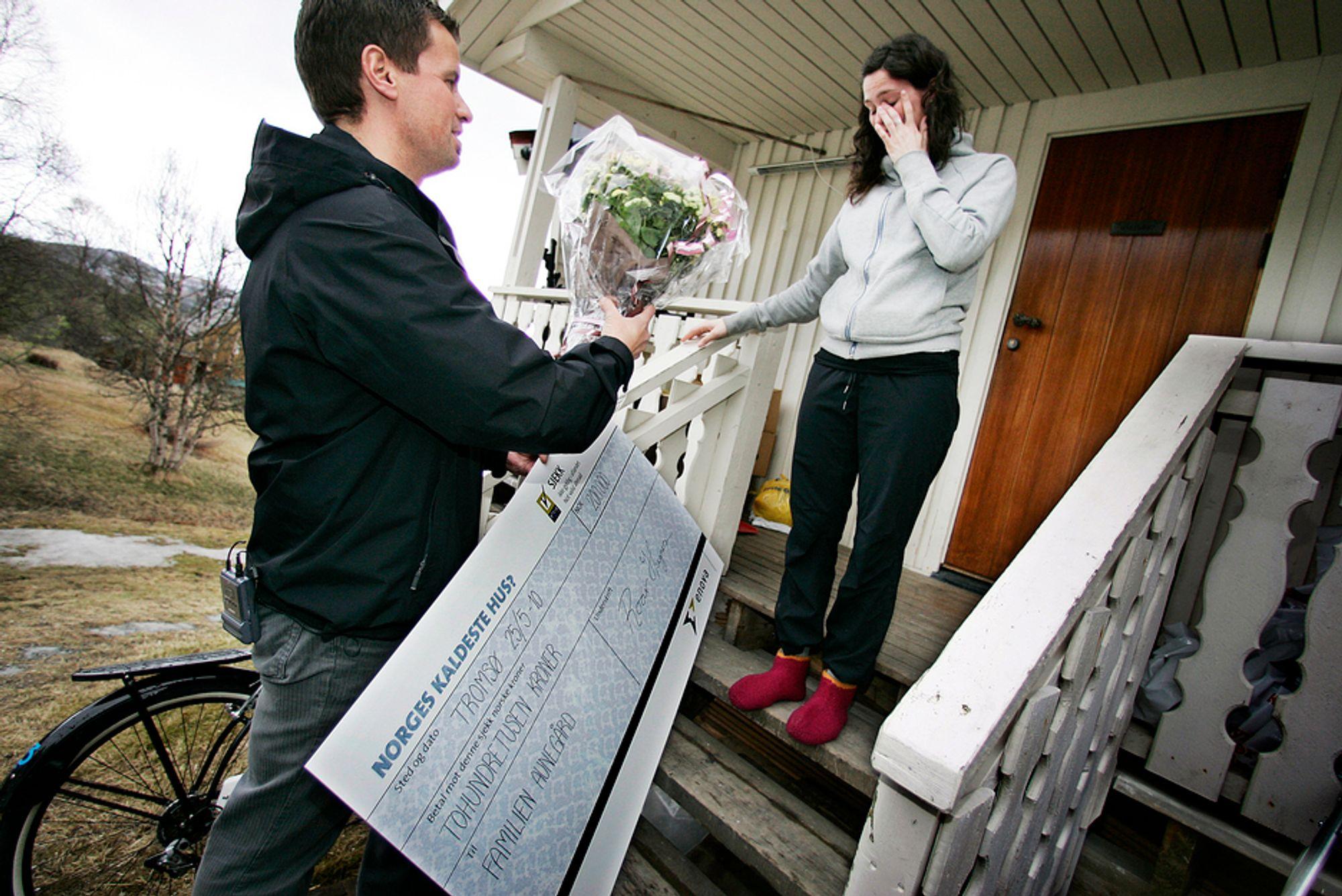 Ingrid og Fredrik Aunegård fikk i fjor 200.000 kroner av Enova til etterisolering, tetting og utskifting av vinduer. De vant konkurransen om å ha Norges kaldeste bolig.