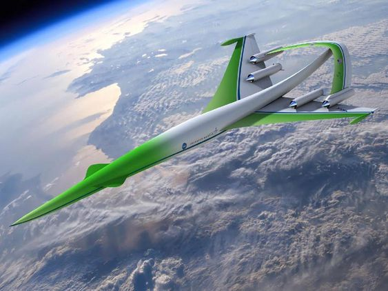 Dette er Lockheed Martins designkonsept for et kommende overlydsfly.
