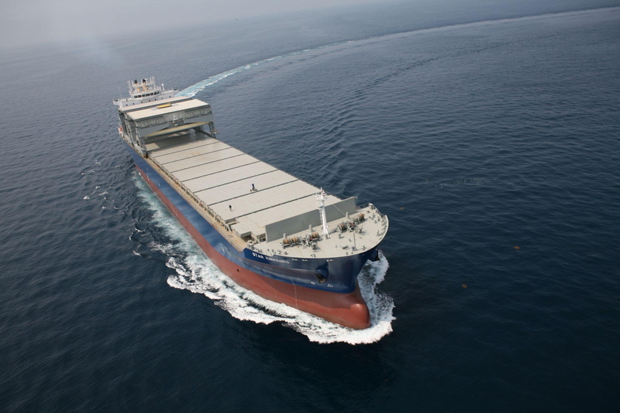14 SKIP: Star Kirkenes er ett av 14 skip med samme design som ulykkesskipet Star Ismene. SHT mener de bør bygges om slik at peilign av last kan gjøres utne å måtte klatre ned i rom med samme atmosfære som lasterommene.