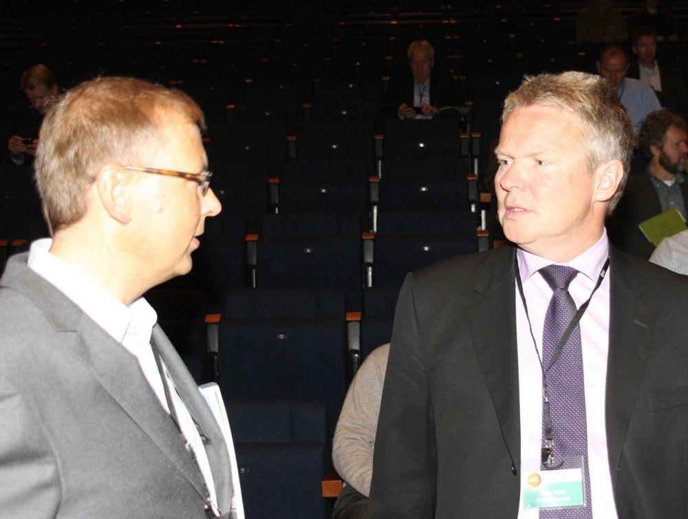 GLIPPER: Ergogroups sjef Terje Mjøs (t.h.) kjenner seg igjen i undersøkelsen som viser at innovasjon ikke blir tatt vare på i norske bedrifter.