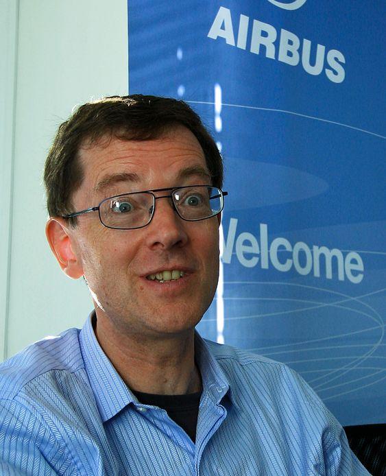 Alan Pardoe startet som flyingeniør og er nå sjef for markedsavdelinga i Airbus.