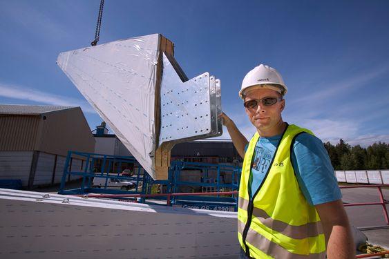 Rune Abrahamsen fra Sweco sto for prosjekteringen av limtre-konstruksjonene.