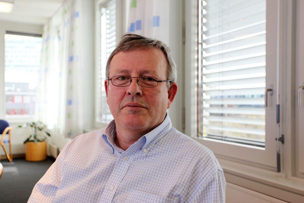 POSITIV: Administrasjonssjef Jens Lysøe er optimistisk på vegne av medlemmene. Økte krav til komfort og energieffektivitet gir mer arbeid til de som gjør tekniske installasjoner.
