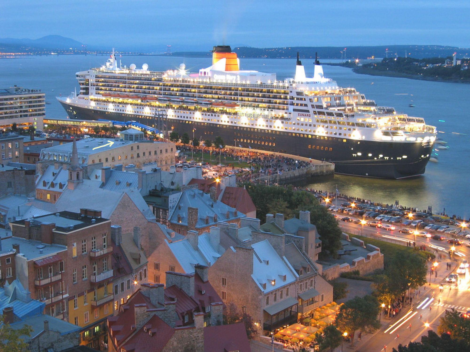 NY MILLIARDKONTRAKT: Queen Mary 2 er bygget ved det franske verftet Saint Nazaire, hvor Aker Yards nå skal bygge nok et cruiseskip for MSC Muisica Class Cruises. Chantiers de l'Atlantique sto bak Queen Mary II.