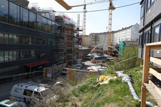 Byggeplass for nytt Bellonabygg, mai 2010