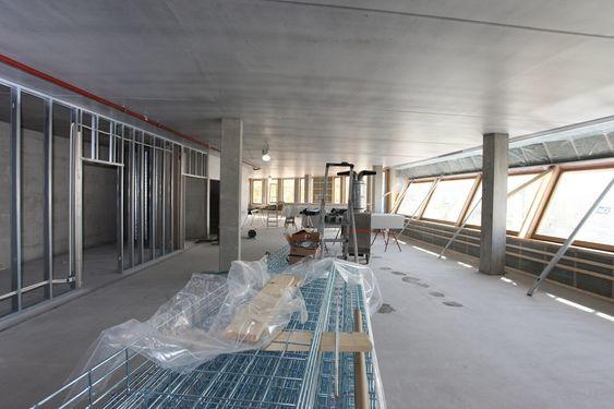 Nytt Bellonabygg under bygging, Veidekke er entreprenør, totalentreprise. Skal stå ferdig oktober 2010, bildet fra mai 2010