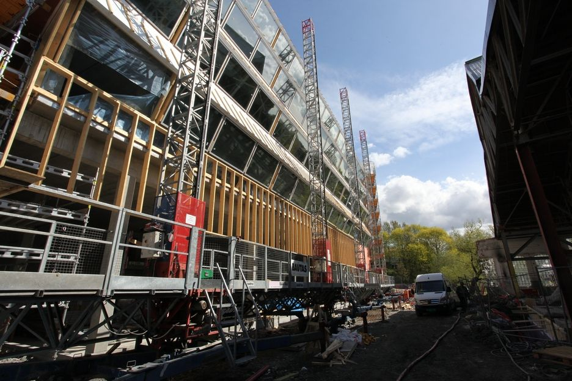 BELLONABYGGET: Bellonabygget er laget med tanke på lavt energibruk. Det er tegnet av LPO Arkitekter som er vertskap for forelesningen til Meyer.