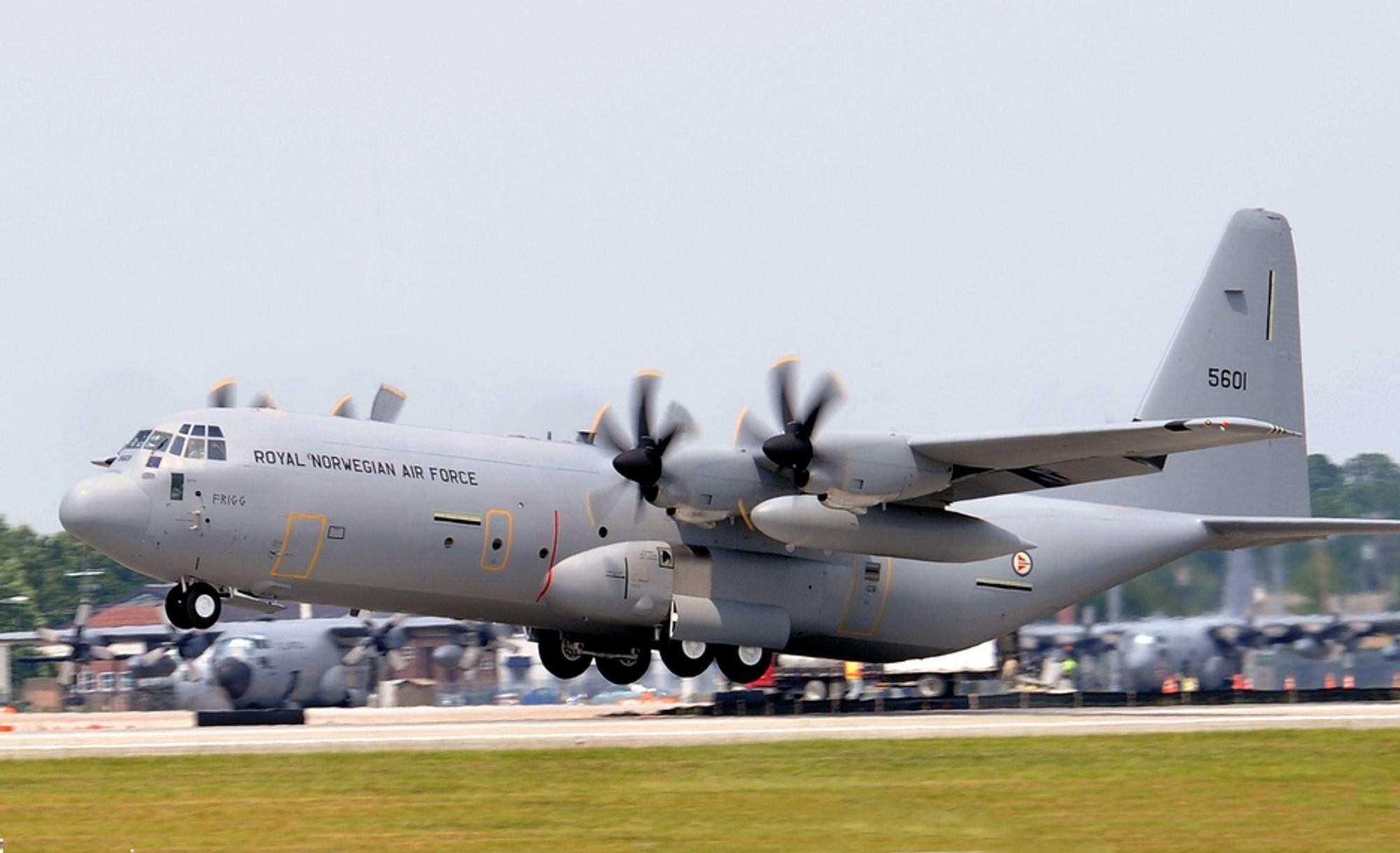 """""""Frigg"""" var det første C-130J-flyet som ble levert for halvannet år siden. I går markerte Lockheed Martin og Luftforsvaret at hele bestillingen på fire maskiner nå er fullført."""