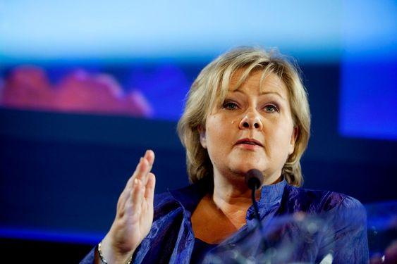 Erna Solberg partileder Høyre