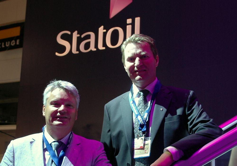 Per Haaland og Ståle Tungesvik mener at den nye prosjektgjennomføringsmodellen Fast Track vil sørge for at flere funn på norsk sokkel blir produsert.