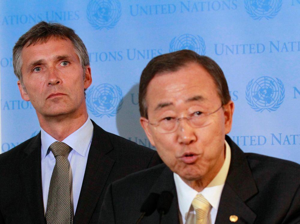 UTREDES: Eksperter mener klimapanelet jobber for tregt, og FNs generalsekretær Ban Ki-moon (t.h.) har nå nedsatt et utvalg som skal utrede organiseringen av klimapanelet.