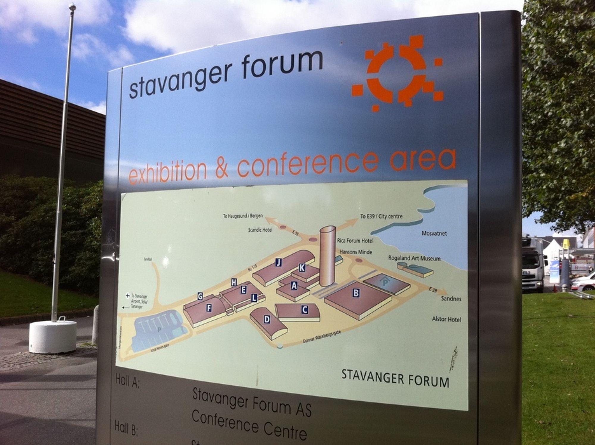 BEKLAGER FULLT: Det er ikke plass til flere utstillere hor Stavanger Forum for neste års ONS-utstillinhg.