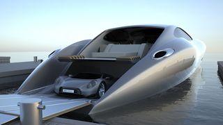 BILDESERIE: Superyacht med sportsbil på kjøpet