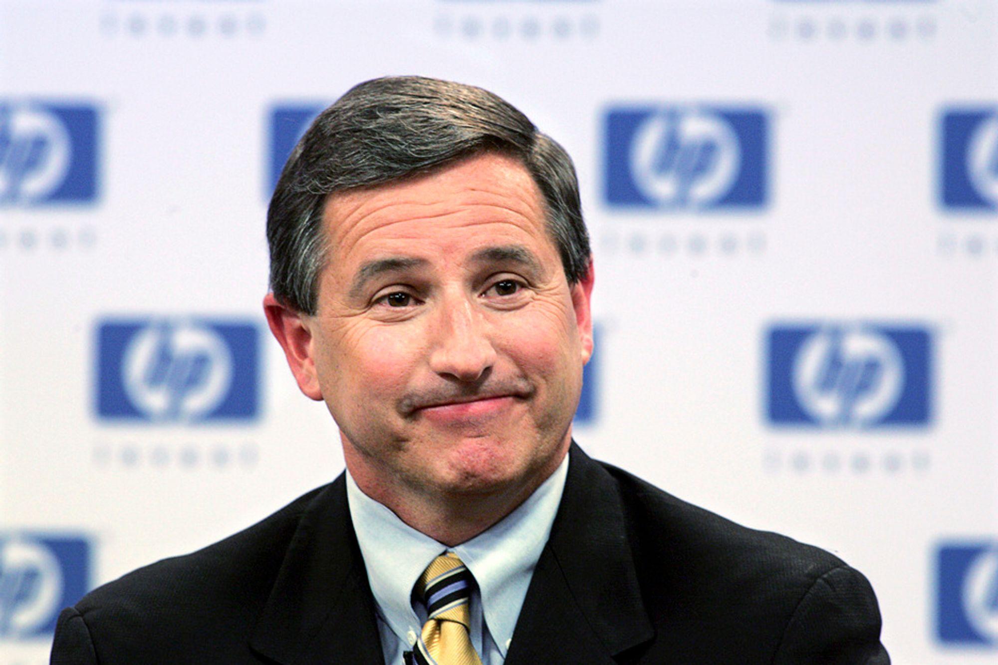 SURT: Hewlett-Packards administrerende direktør, Mark Hurd, går av etter sexanklager. Det førte til at verdien på selskapets aksjer sank 10 prosent.