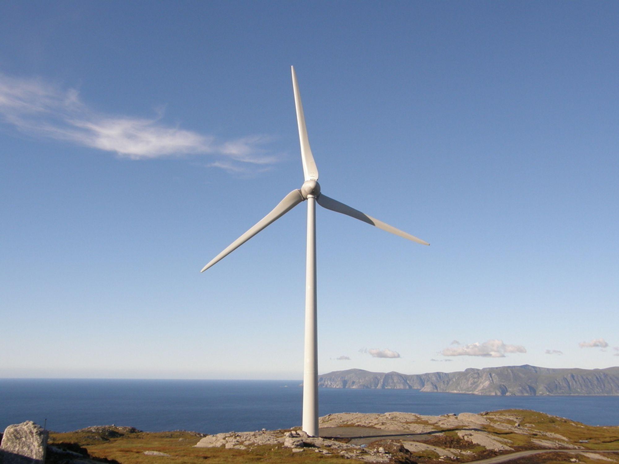 NY VINDPARK: Klokken 12 i dag åpner Mehuken II, den første nye vindparken i Norge på flere år.