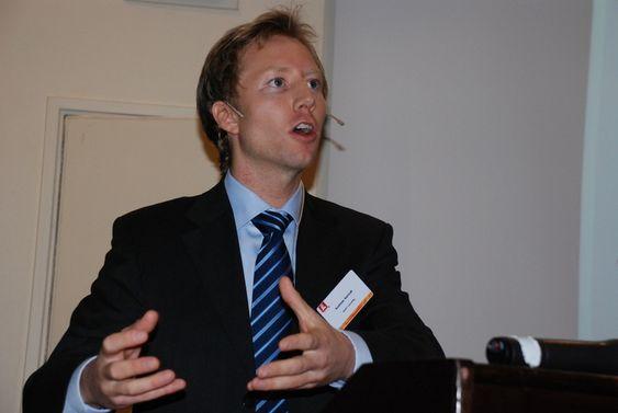 Andreas Aamodt, partner i energirådgivningsselskapet Adapt Consulting AS. NVEs energidager, Holmenkollen Park Hotel Rica okt 2010.