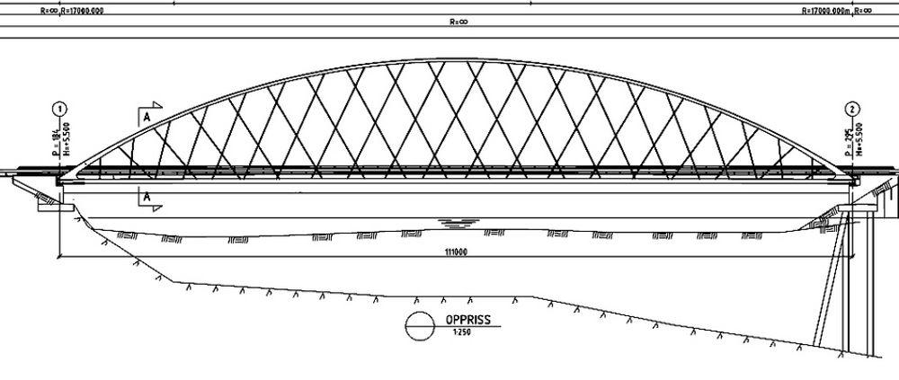 Kjørebanen på Åsnes bru skal bæres av 40 kabler på hver side. Kablene har en en diameter på 36 mm.