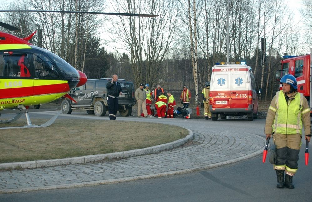 AVSKÅRET: Ambulansehelikoptre er foreløpig avskåret fra å kommunisere digitalt med de andre blålysetatene.