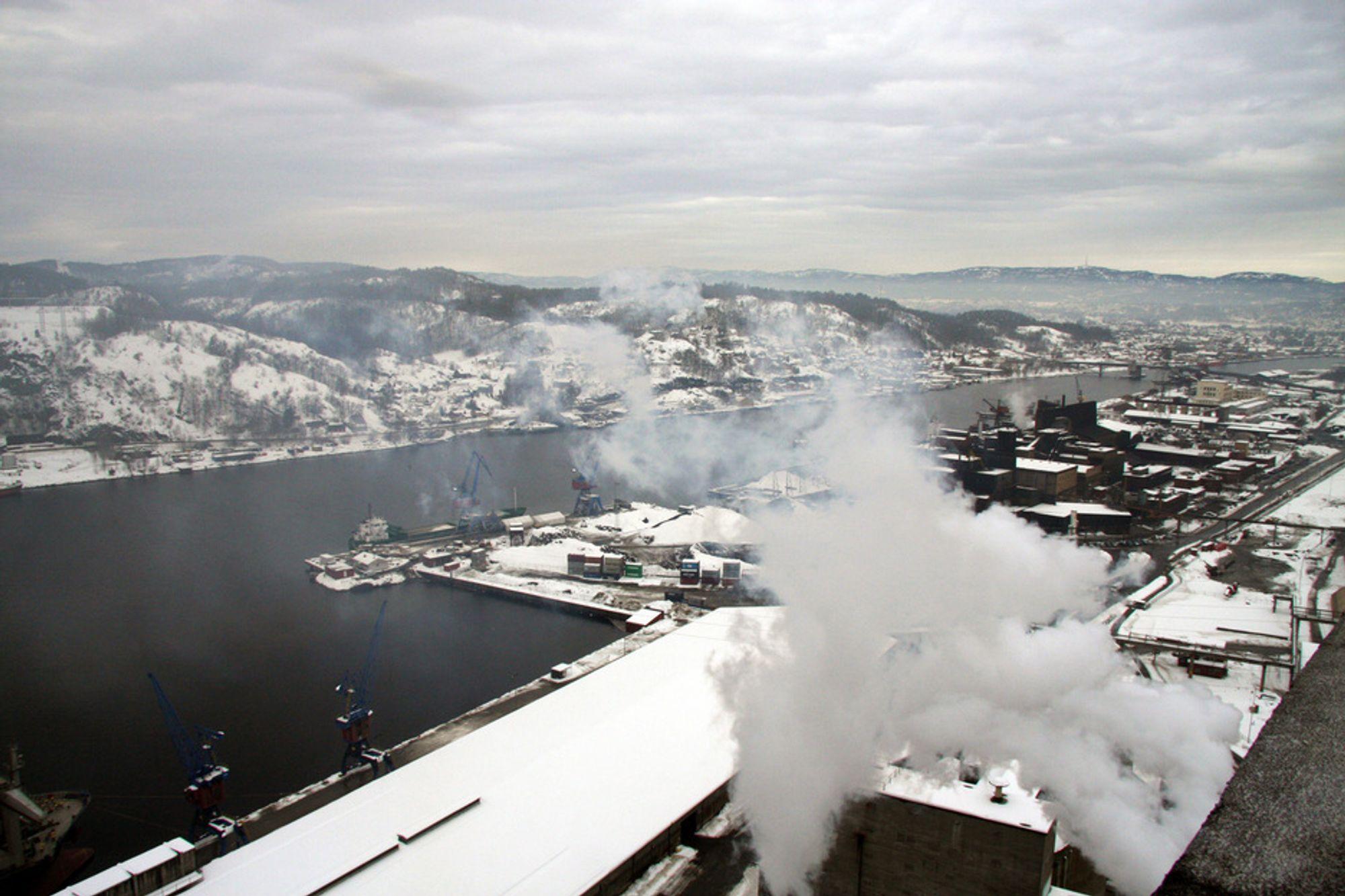 STORT POTENSIAL: I Grenland, Sør-Østlandet, Göteborgsområdet og i Nord-Jylland finnes det store industriklynger som slipper ut ca. 13 mill. tonn CO2 årlig.