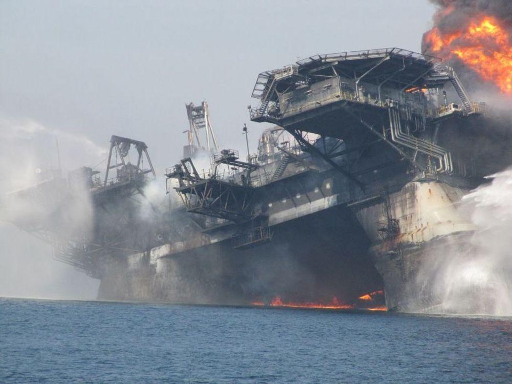 ULYKKE: Det Norske Veritas mener det er ni ganger større fare for utblåsning i Mexicogolfen enn i norske farvann.