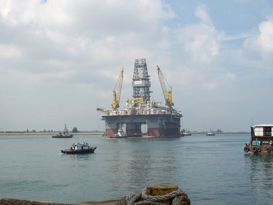 Transocean's Development Driller III, shown in this file photo, is expected to arrive at the site of the Deepwater Horizon incident, Monday, April 26, 2010. The drilling unit will be used to drill relief wells in order to stop the flow of oil emanating from the wellhead if efforts to secure the blow off preventor are unsuccesful.