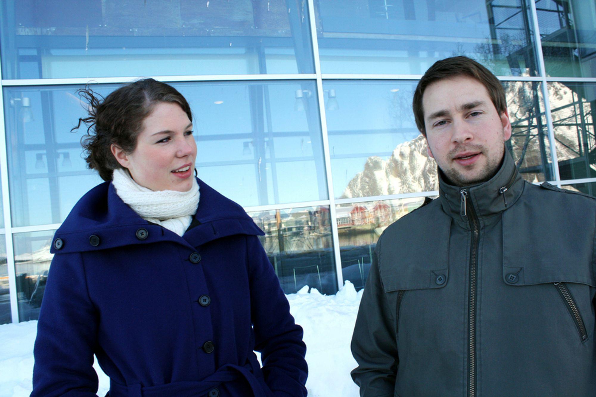 VOKSENDE NÆRING: Verdensarvstatus kan hjelpe reiselivsnæringen i Lofoten til å bli mindre sesongavhengig, mener Mariell Hagen og Jan Rune Yanni Vikan fra Destination Lofoten.