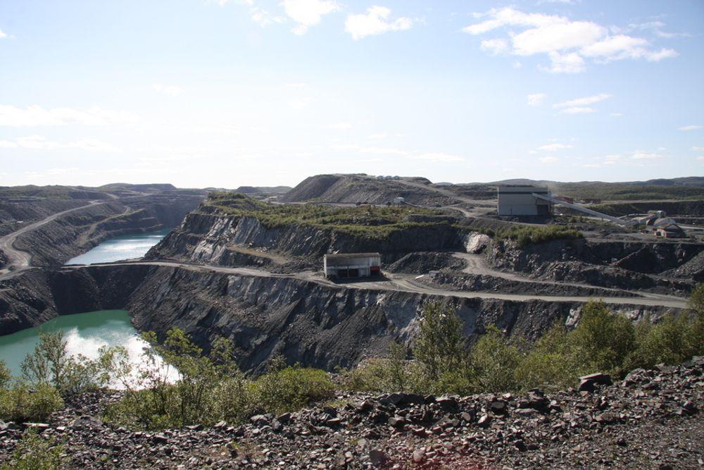STERK VEKST: Virksomheten i Syd-Varanger Gruve sørger for at Finnmark har landets sterkeste eksportvekst med 117 prosent hittil i år.