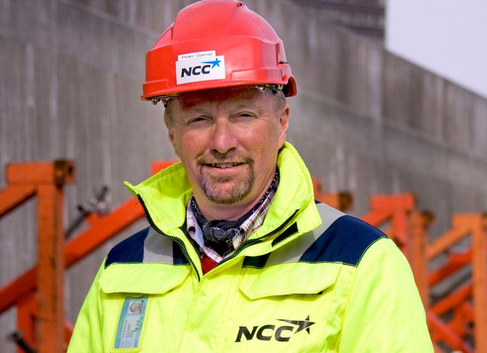 OPP: Både ordrereservene og inntjeningen går opp, men omsetningen har falt noe fra i fjor for Peter Gjørup, administrerende direktør for NCC.
