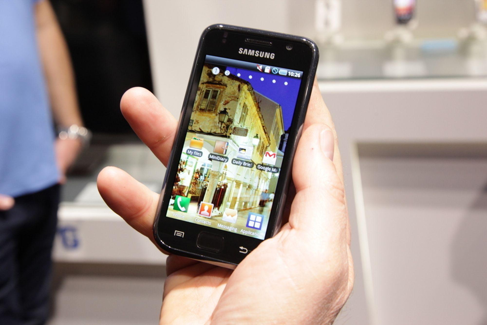 Samsungs Galaxy S er blant Android-telefonene som nå får tilgang til betalte applikasjoner i Android Market også i Norge.