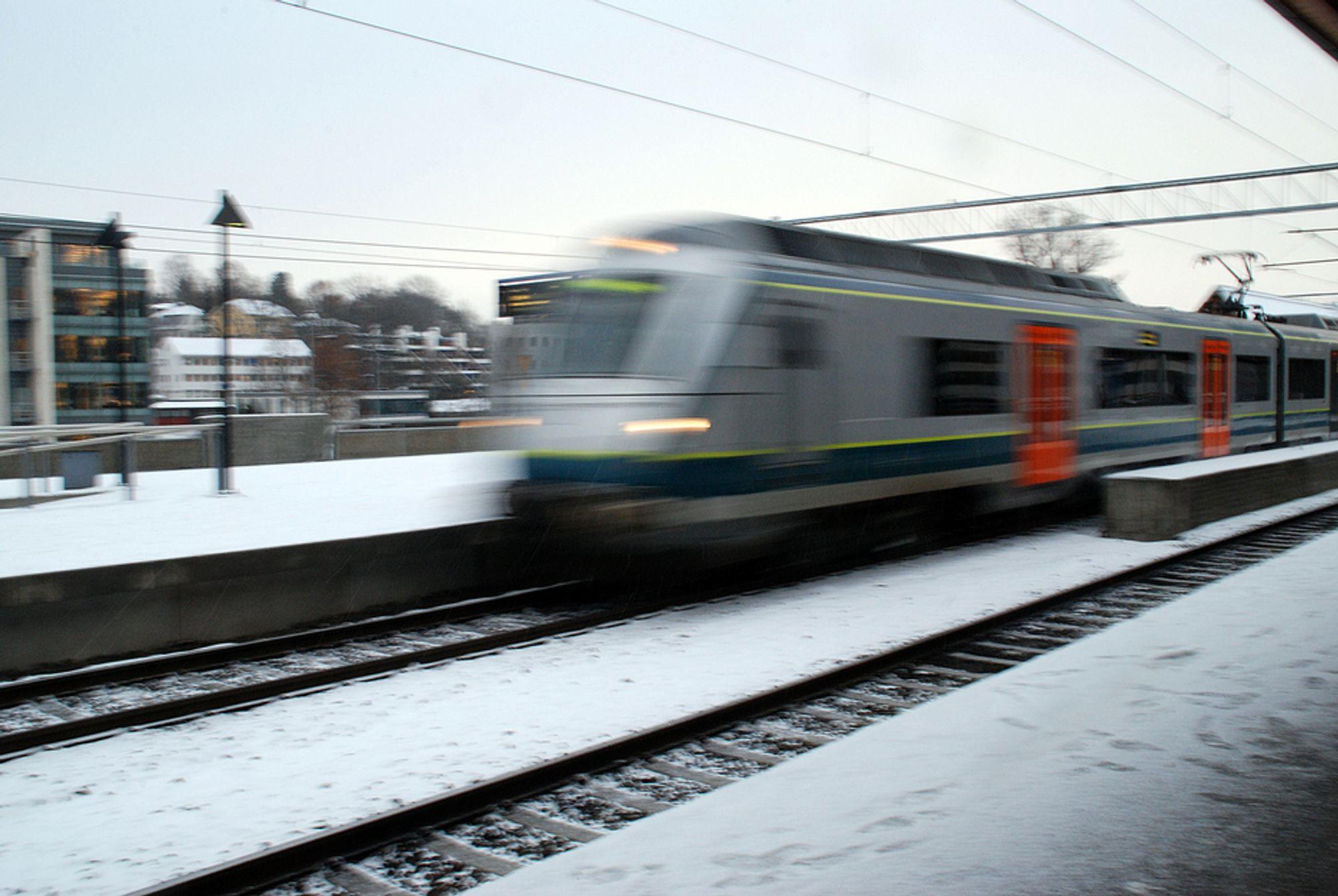 ØKT KAPASITET: Dobbeltspor på strekningen Farriseidet¿ Porsgrunn øker kapasiteten og muliggjør en eventuell framtidig sammenkobling av Vestfoldbanen og Sørlandsbanen. ILLUSTRASJONSBILDE.