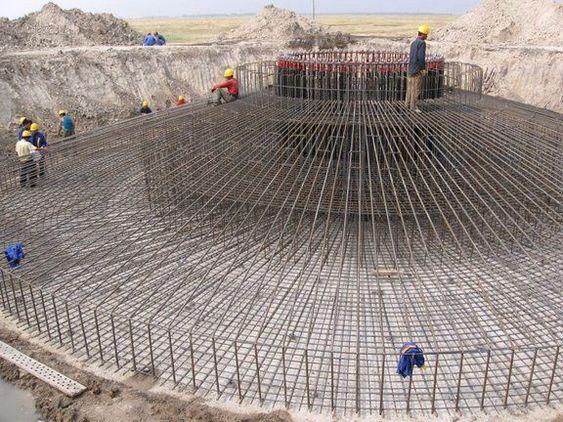 Fundamentene til vindturbinene er enorme.