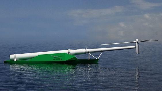 NY PRIS: Windflip er en lekter som skal frakte havvindturbiner ut til havs. Nå har det fått nok en pris - Cleantech Award.