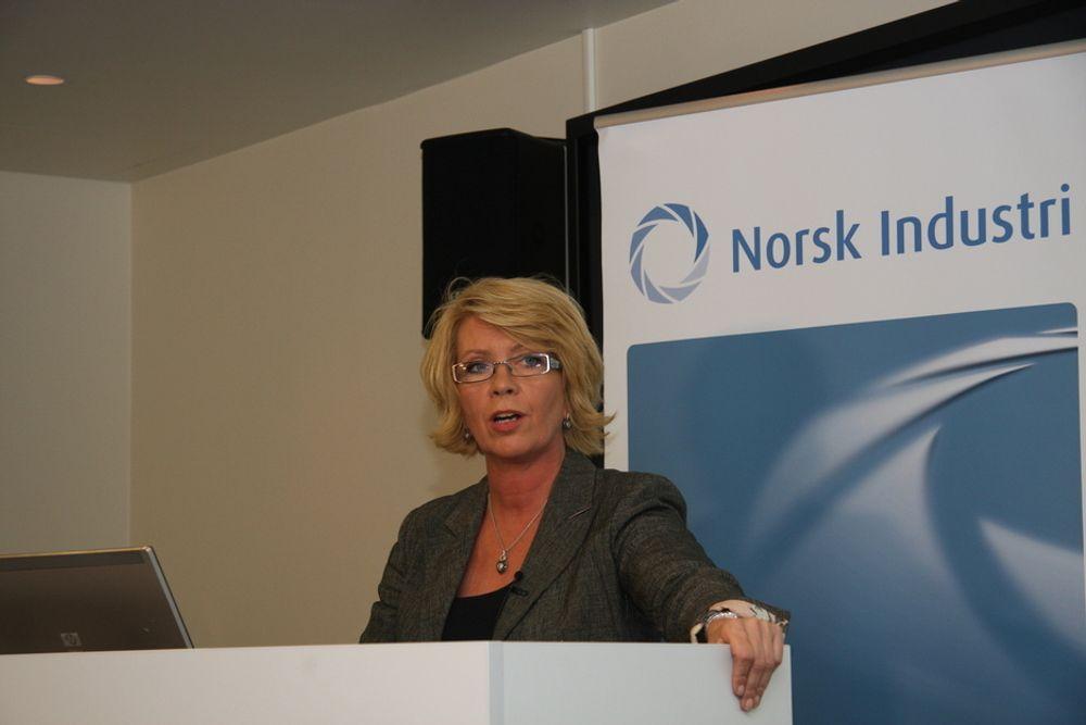 ENERGI: Prosjektleder Åslaug Haga i Norsk Industri kritiserer regjeringen for manglende energipolitikk.