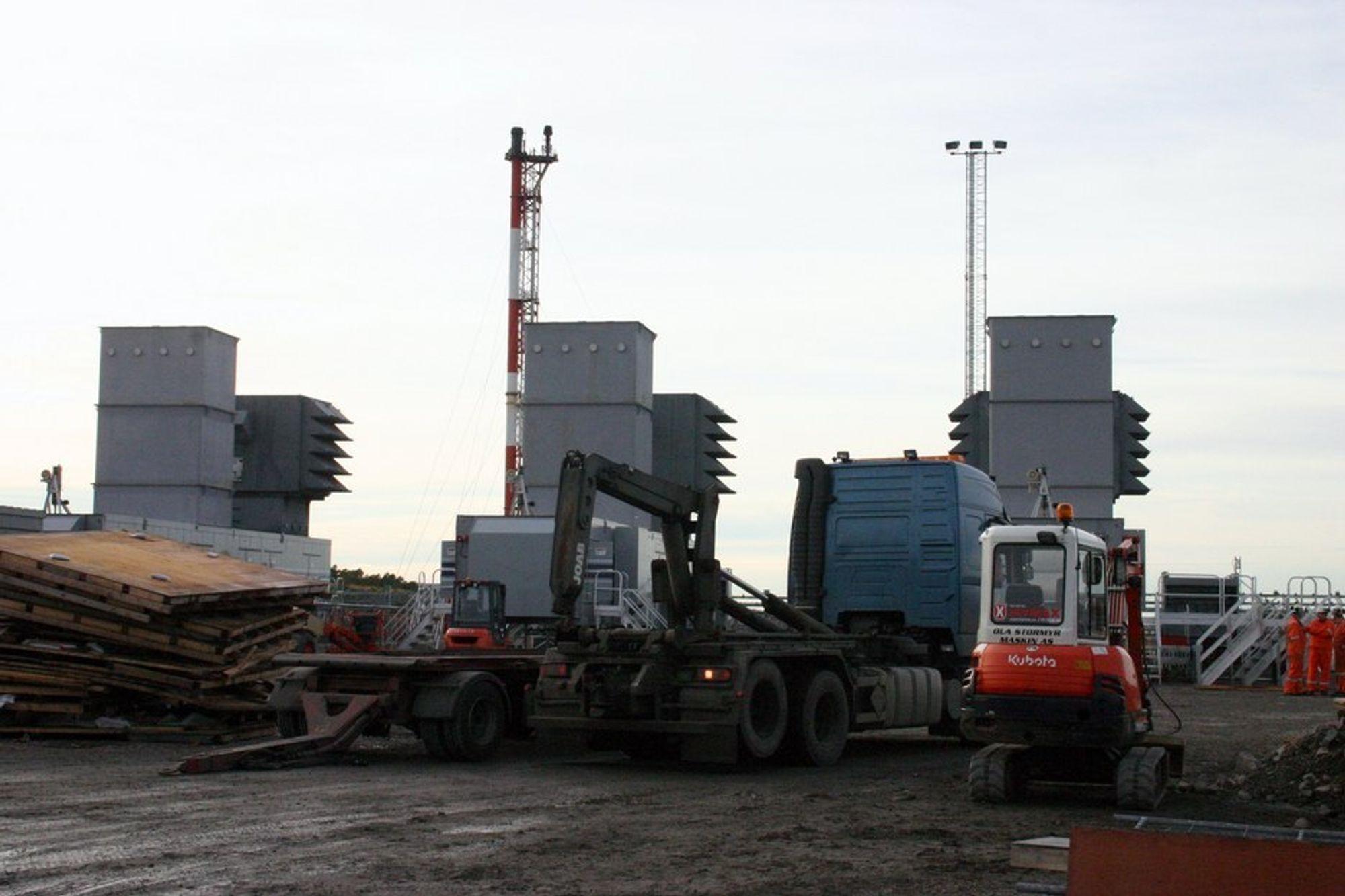 FLYTTING: Statnett  vurderere å sette opp et mobilt gasskraftverk i Bergensområdet får  sikre kraft til området. Detkan bli aktuelt å flytte et fra Midt-Norge.