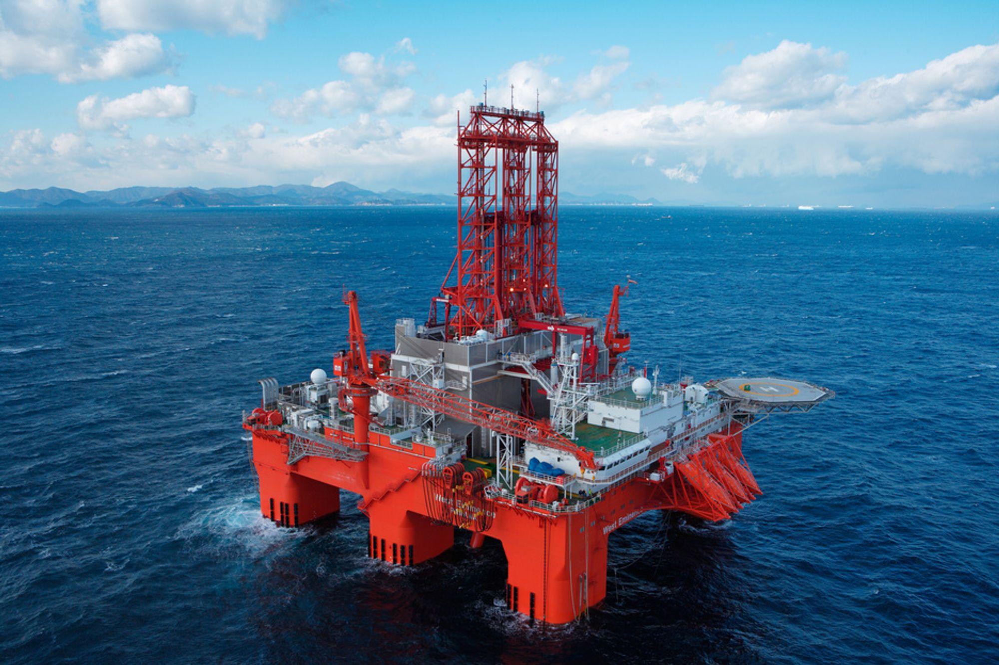 Rosneft kan komme til å skaffe seg opptil 50 prosent i Seadrill. Her den halvt nedsenkbare riggen West Eminence.