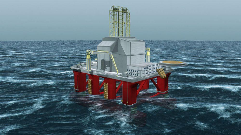 RIGGMARKED: Aker Drillings H6-rigg som kan lete i Arktiske farvann.