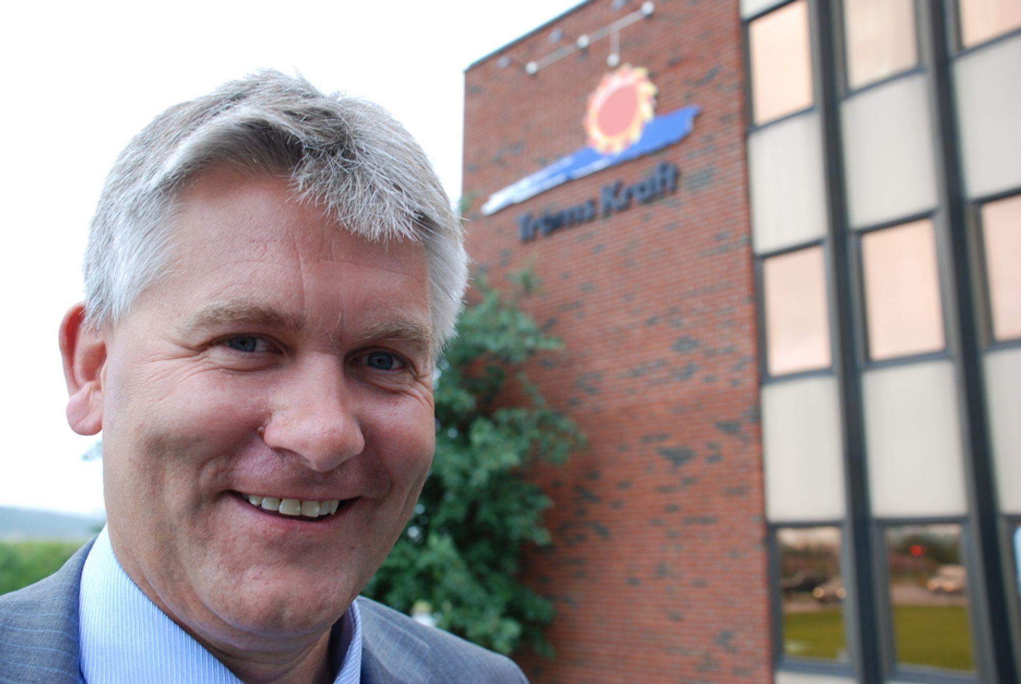 Konsernsjef i Troms Kraft, Oddbjørn Schei, er fornøyd med at Hålogaland Kraft og Narvik kommune ikke benyttet forkjøpsretten på aksjene i Nordkraft.
