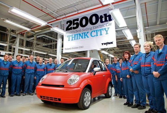 Produksjonen av Think City nummer 2 500 ble feiret på fabrikken i Finland i dag.