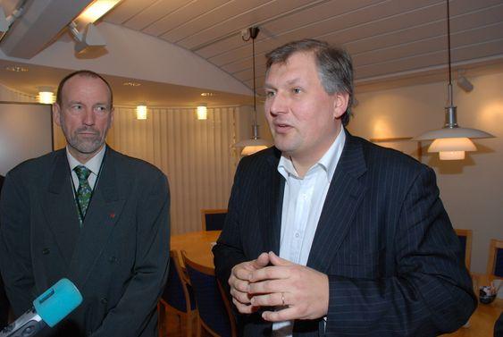 Agnar Aas (t.v.) og Terje Riis-Johansen 11.01.10