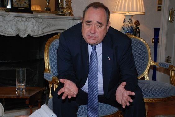 SKOTSK ROS: Den skotske førsteministeren Alex Salmond har stor tro på tidevannskraftverket til Hammerfest Strøm.