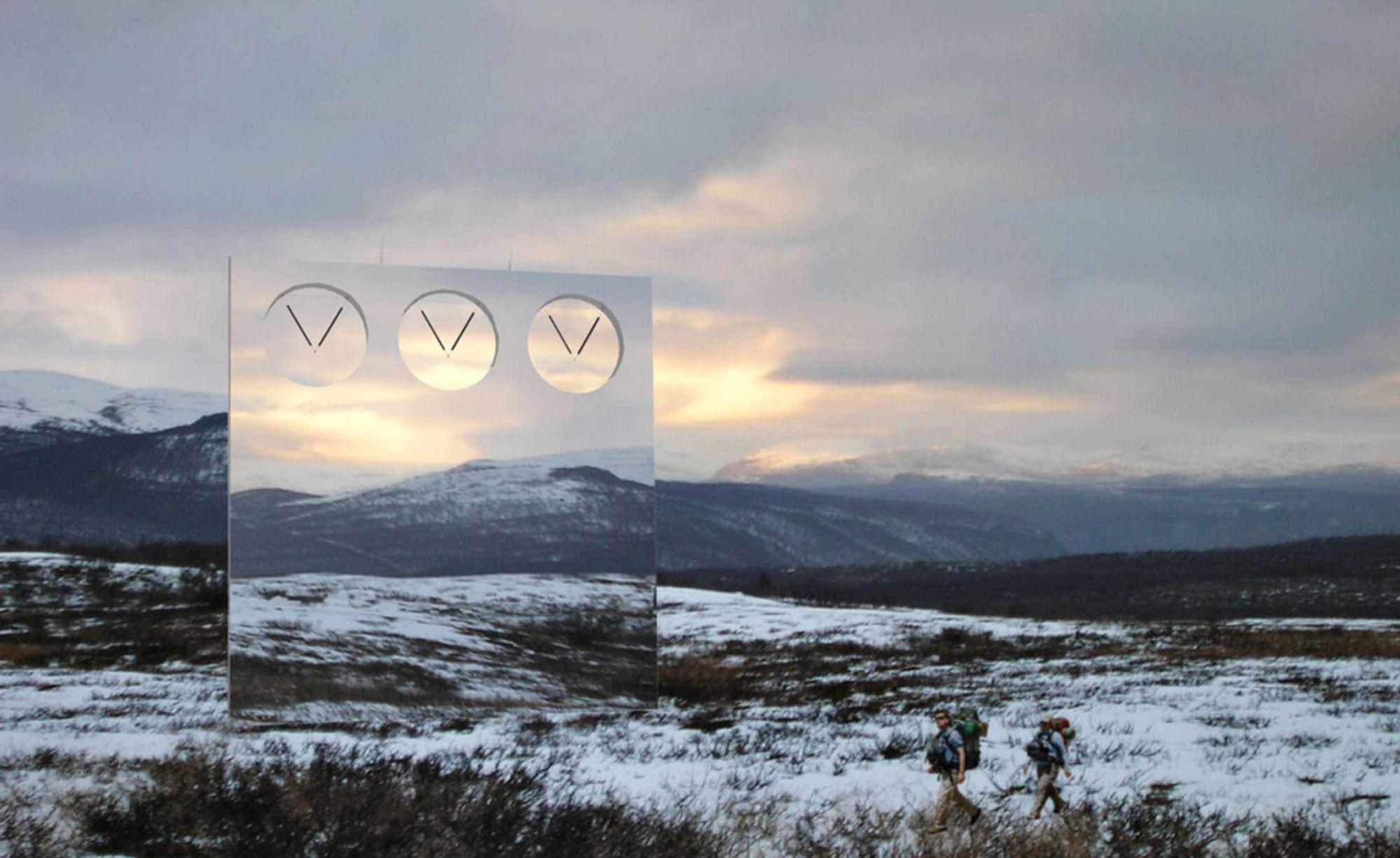 Bidraget Speilveggen vil bli plassert på Heia i Troms - om innbyggerne i Balsfjord vil.