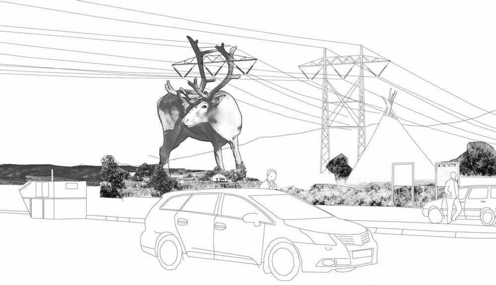 MANGE KULTURMINNER: Statnett sier de har god dialog med kulturminnemyndighetene for å avklare løsninger og eventuelle dispensasjonsbehov ved byggingen av den nye høyspentlinja mellom Balsfjord og Hammerfest. Illustrasjonen viser et forslag fra Statnetts skulpturmastkonkurranse i 2010.