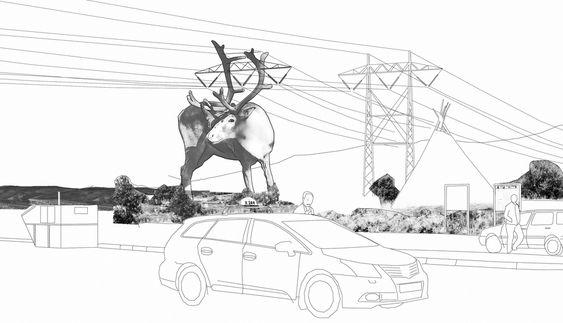 Forslag på skulpturmast Norges første skulpturmast Statnett