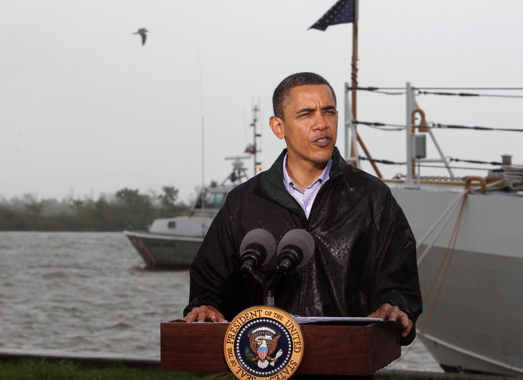 Et flertall av amerikanerne støtter ikke president Barack Obamas forbud mot leteboring utenfor kysten av USA, viser en ny meningsmåling.