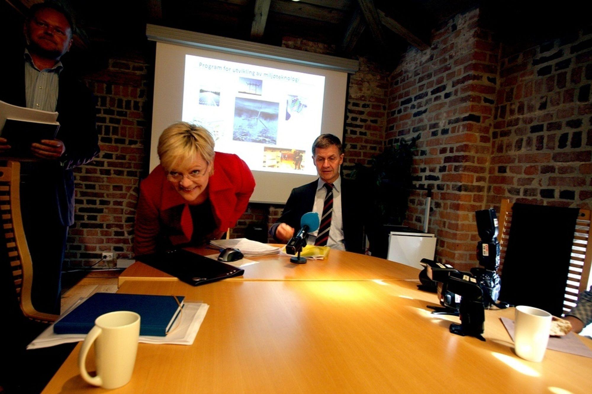 Kristin Halvorsen og Erik Solheim la i dag frem en ny ordning for kommersialisering av miljøteknologi.