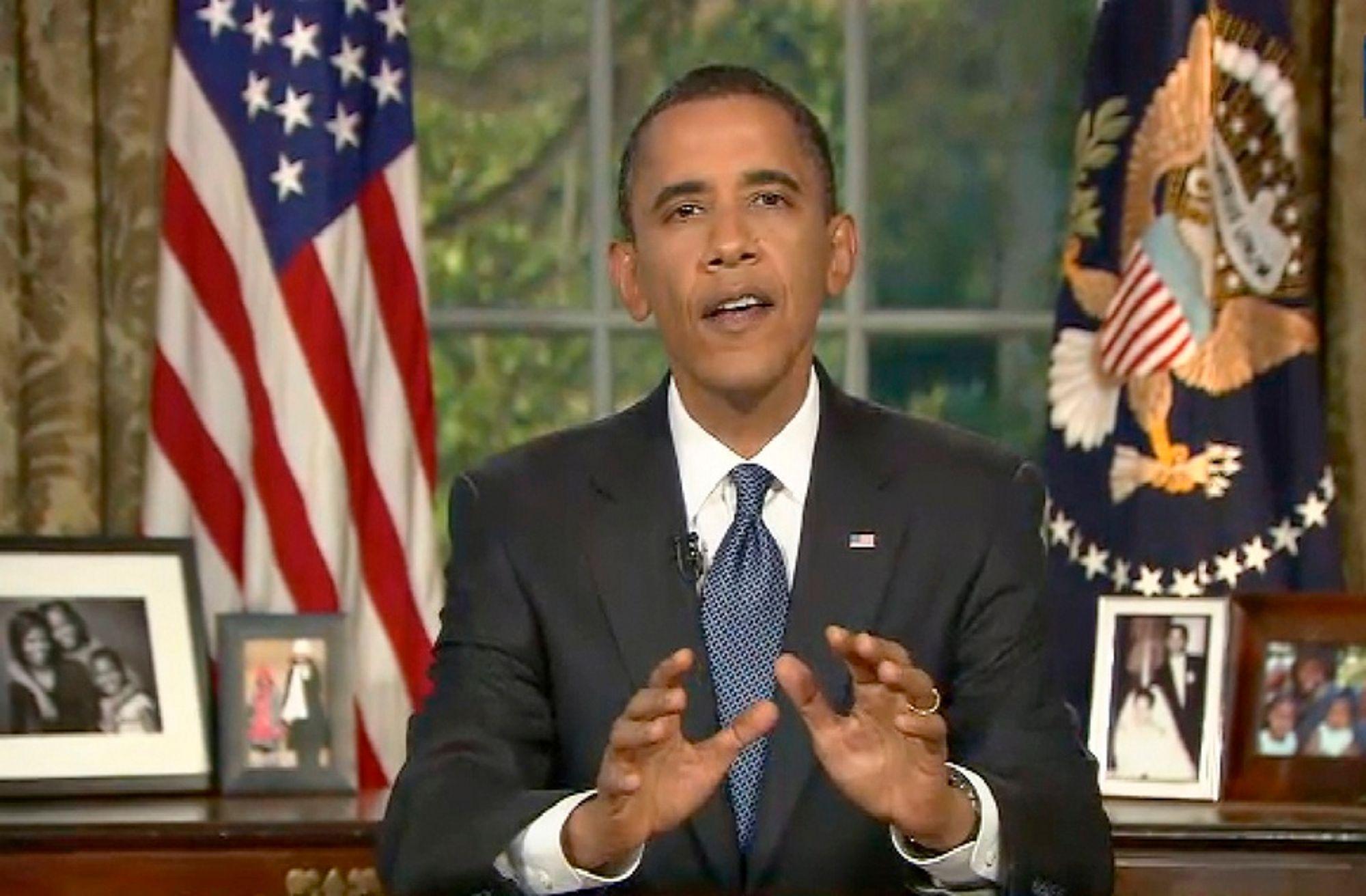 USAs president Barack Obama hevdet at oljeselskapet BP har opptrådt uansvarlig, da han holdt en TV-sendt tale natt til onsdag norsk tid.
