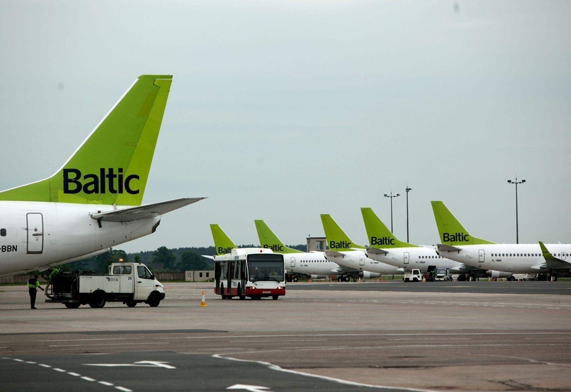 GRØNNE HALER: Hver morgen flyr Air Baltic-maskinene inn til Riga fra fem norske flyplasser. Om kort tid, kommer ytterligere minst én destinasjon på kartet. Kanskje Trondheim?