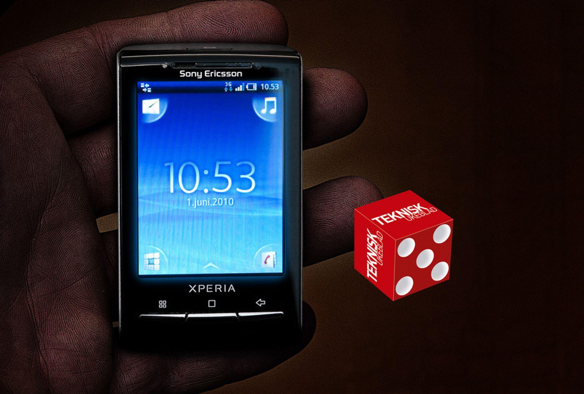 Sony Ericsson Xperia X10 Mini får god plass i hånden. Funksjonsrik er den og.