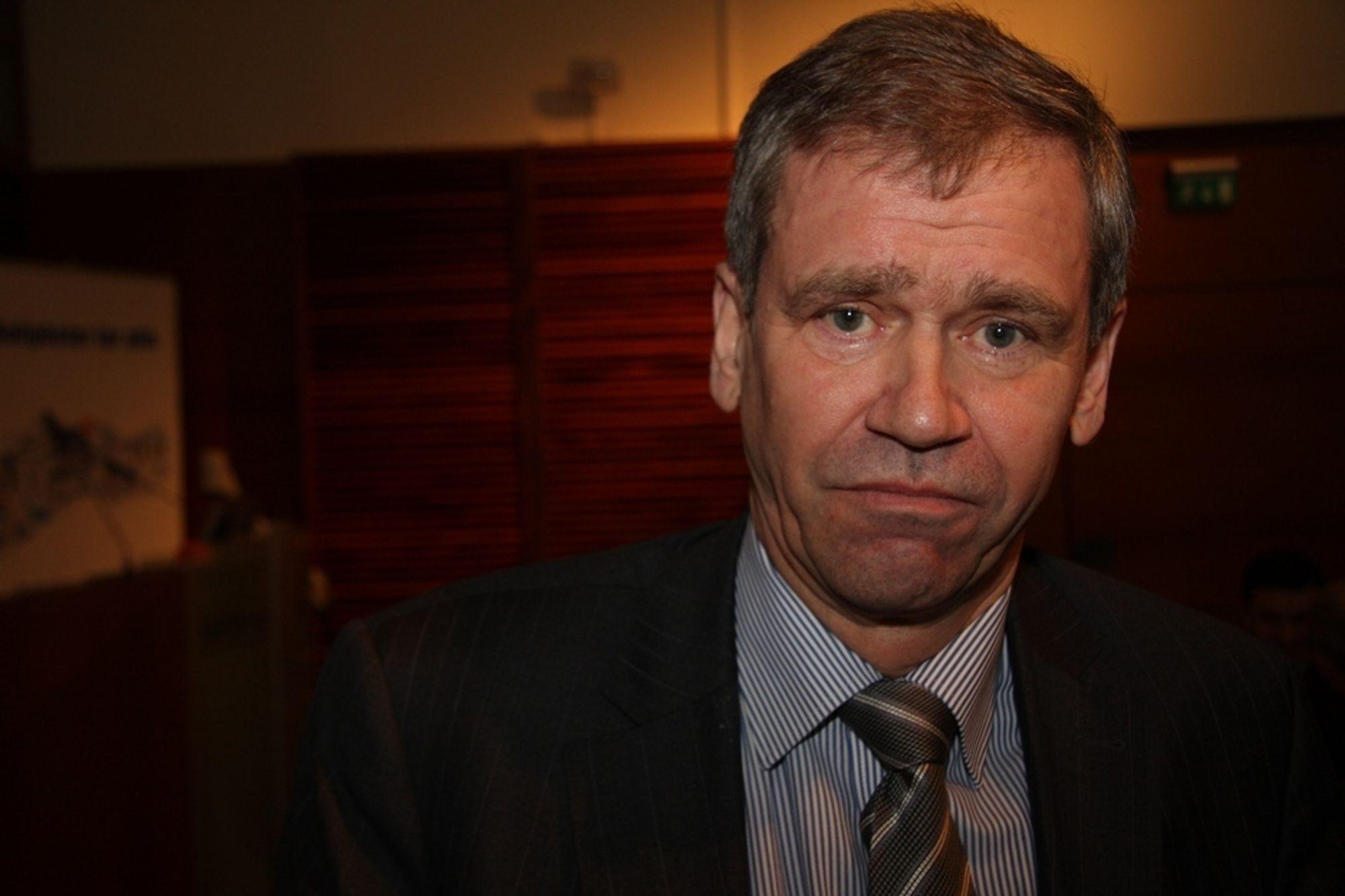 UTBYTTE: NSB-sjef Einar Enger er rammet av regjeringens tørst etter utbytte. Han får ikke beholde pengene til oppgradering av nedslitt materiell.